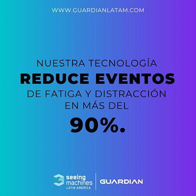 NUESTRA TECNOLOGÍA REDUCE EL 90% LOS EVENTOS DE FATIGA Y DISTRACCIÓN.